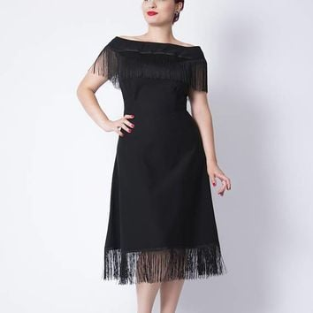 On the Fringe Little Black Dress