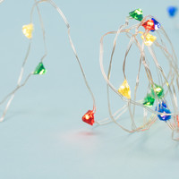 Gem Red & Blue String Lights