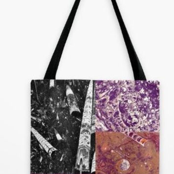 Tote Bag - Ancient Sahara Seabed Signature Fossil Stone - All Over Design