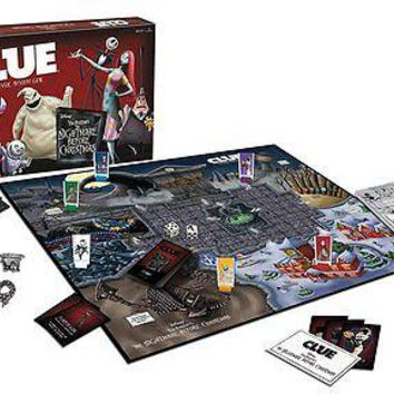 Clue: The Nightmare Before Christmas Board Game USAopoly TNBC NBC