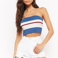 Ribbed Colorblock Tube Top