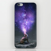 All Things Share the Same Breath (Coyote Galaxy) iPhone & iPod Skin by Soaring Anchor Designs
