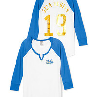 UCLA Split-Neck Baseball Tee - PINK - Victoria's Secret