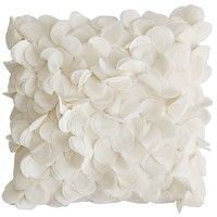 Boutique Floral Pillow - Ivory