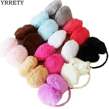 YRRETY Women Men Warm Fur Earmuffs Unisex Girls Winter Earwarmers Ear Muffs Earflap Warmer Headband Fur Round Unisex Earmuffs