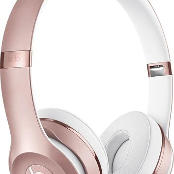 Apple Beats Solo³ Wireless Bluetooth On-Ear Headphones with Mic - Rose Gold