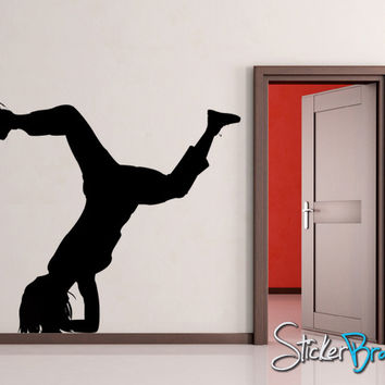 Vinyl Wall Decal Sticker Break Dancer Hip Hop #AC129