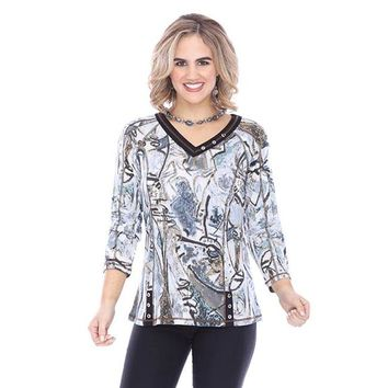 Remi Button Top by Parsley and Sage