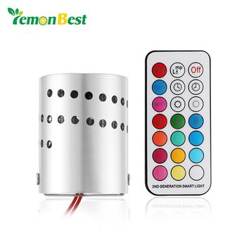 Modern LED Ceiling Light Aluminum Hollow Cylinder RGB Lamp 3W Remote Control Indoor Outdoor Decoration Home Lighting AC 85-265V