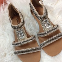 Get your shine on sandals