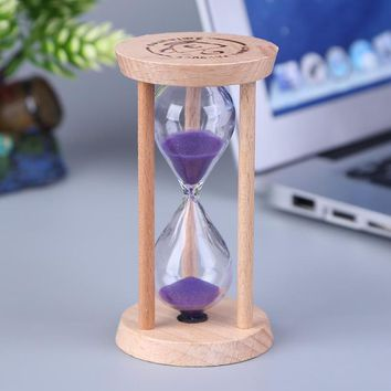Wooden Hourglass Sand Clock 3 Minutes Hourglass Sandglass Kids Toothbrush Timer Time Counter Children Gift Home Decoration
