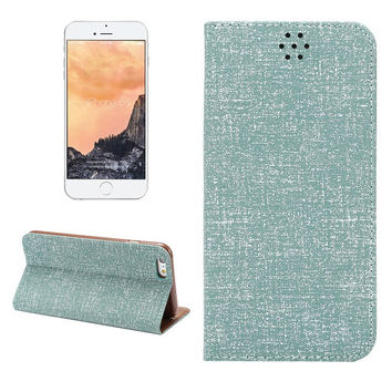 Green Oxford Fabric Leather Wallet iPhone creative cases for 5S 6 6S Plus Free Shipping