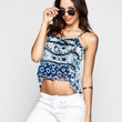Patrons Of Peace Womens Double Layer Cami Indigo  In Sizes