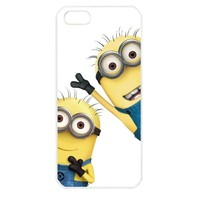 Despicable Me Minions Apple iPhone 5 TPU Soft Black or White case (White)