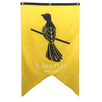 Game Of Thrones House Baelish Licensed Banner Tapestry Flag - Yellow - 30x50