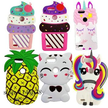 ZTE Blade Z Max Cases - Unicorn, Cat Ice Cream, Pineapple