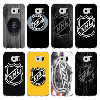 Soft TPU Silicon Phone Cases Cover for Samsung Galaxy Note 2 3 4 5 8 S3 S4 S5 Mini S6 S7 S8 S9 Edge Plus Coque Nhl Hockey Puck