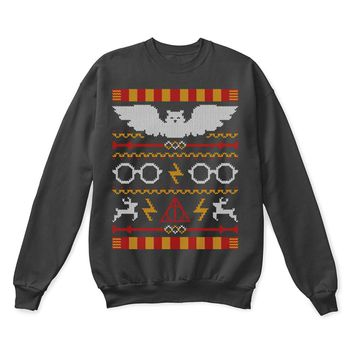 SPBEST Expecto Patronum Harry Potter Ugly Sweater