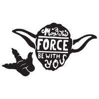 May the Force Character-Type Wall Decal