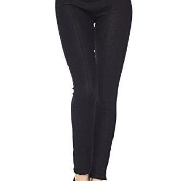 PALI USA Premium Quality Jeggings Regular and Plus Super Stretch Jean Leggings Pants wPockets