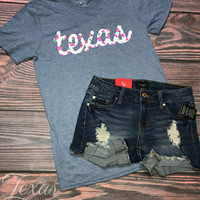Floral Texas Graphic Tee (S-XL)
