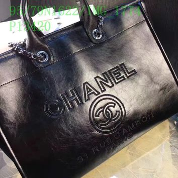 Double C Black Tote