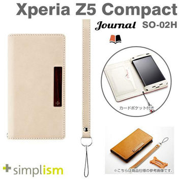Simplism Journal Series Flip Type Notebook Style Case for Xperia Z5 Compact (Cream)