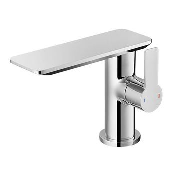 DAX-8205 / DAX SINGLE HANDLE BATHROOM WATERFALL FAUCET, DECK MOUNT, BRASS BODY, BRUSHED NICKEL OR CHROME FINISH, SPOUT HEIGHT 4-15/16 INCHES