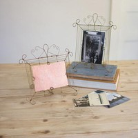 Set Of 2 Wire Photo Frames