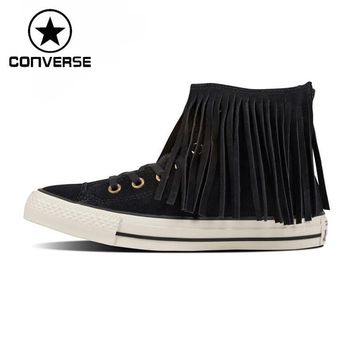 Original New Arrival Converse all star fringe suede Women's Skateboarding Shoes Sneak