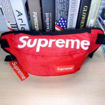 PEAPDQ7 Hot Unisex Supreme Print Zipper Chest Waist Pouch Belt Wallet Bags
