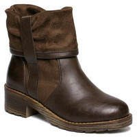 Ankle PU Boots With Chunky Heel