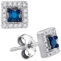 Diamond Fashion Earrings in 10k White Gold 0.21 ctw