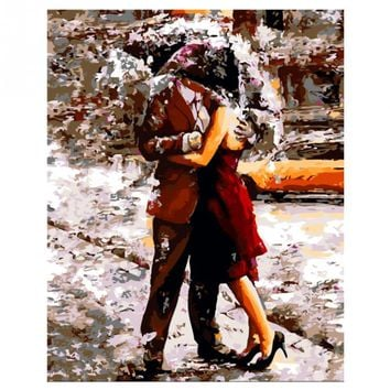Lovers Diy Oil Painting By Numbers Kits Wall Art Picture Home Decor Acrylic Paint On Canvas For Artwork