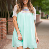 Sweet Inspiration Dress, Mint