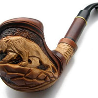 FREE Shippping Smoking Pipes. Tobacco Smoking Pipes - Wooden Tobacco Pipes - Long Wood Pipe PANTHER 2