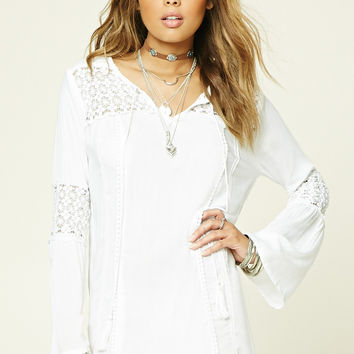 Boho Me Crochet Shift Dress