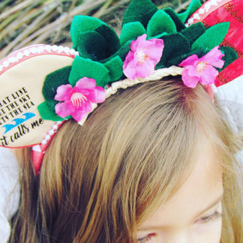 Moana Flower Wreath Mouse Ears