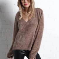 Somedays Lovin' Colours Of Dawn V-Neck Sweater - Taupe