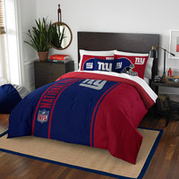 New York Giants NFL Full Comforter Set (Soft & Cozy) (76 x 86)