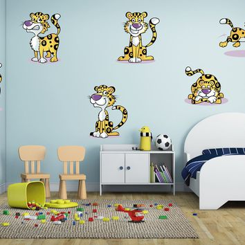 ik1401 Wall Decal Sticker Leopards Animals of Africa bedroom