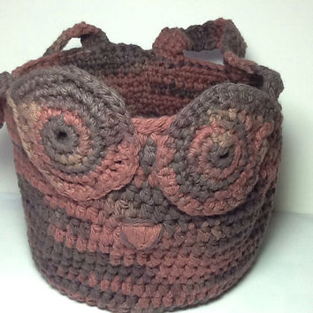 Free Crochet Patterns Owl Basket : Shop Crocheted Owl Basket on Wanelo