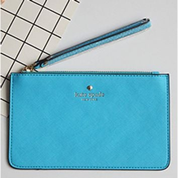 Kate Spade Female tide brand new Macaron color card package Light blue