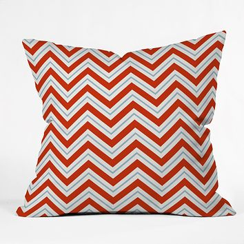 Caroline Okun Peppermint Throw Pillow