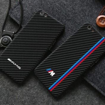 PEAPJ1A BMW carbon fiber phone case shell  for iphone 6/6s,iphone 6p/6splus,iphone 7/8,iphone 7p/8plus, iphonex