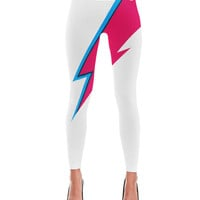 Bowie Lightning Bolt Print Leggings