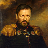 Ricky Gervais - replaceface Art Print by Replaceface