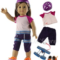 "5in1 set Climbing Doll Clothes Outfit for 18""American Girl Doll Costume"