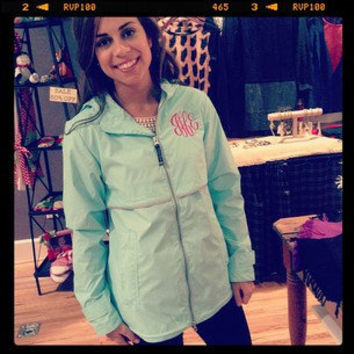 Monogrammed Rain Jacket - Order NOW for Fall and Christmas 2013