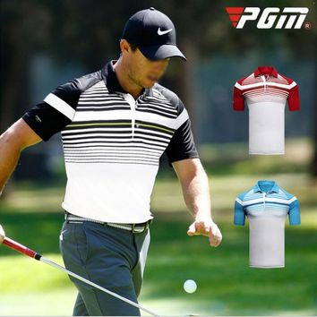 Brand Logo Men's Golf Shirt Sports polo shirt Turn-down Collar Jersey Summer Horizontal stripes Customize T-shirt Custom made